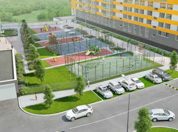 Спортивная площадка на территории комплекса